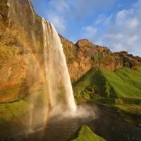 Seljalandsfoss Rainbow, Iceland