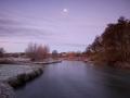 River Test by Moonlight, Longstock