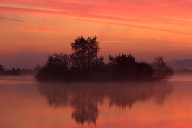Sunrise over the Lake, Wareham