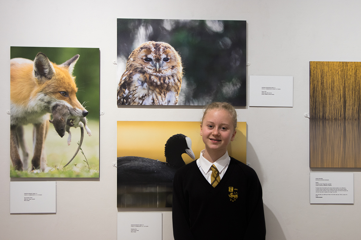 Hannah with her Highly Commended entry